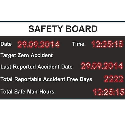 safety display board